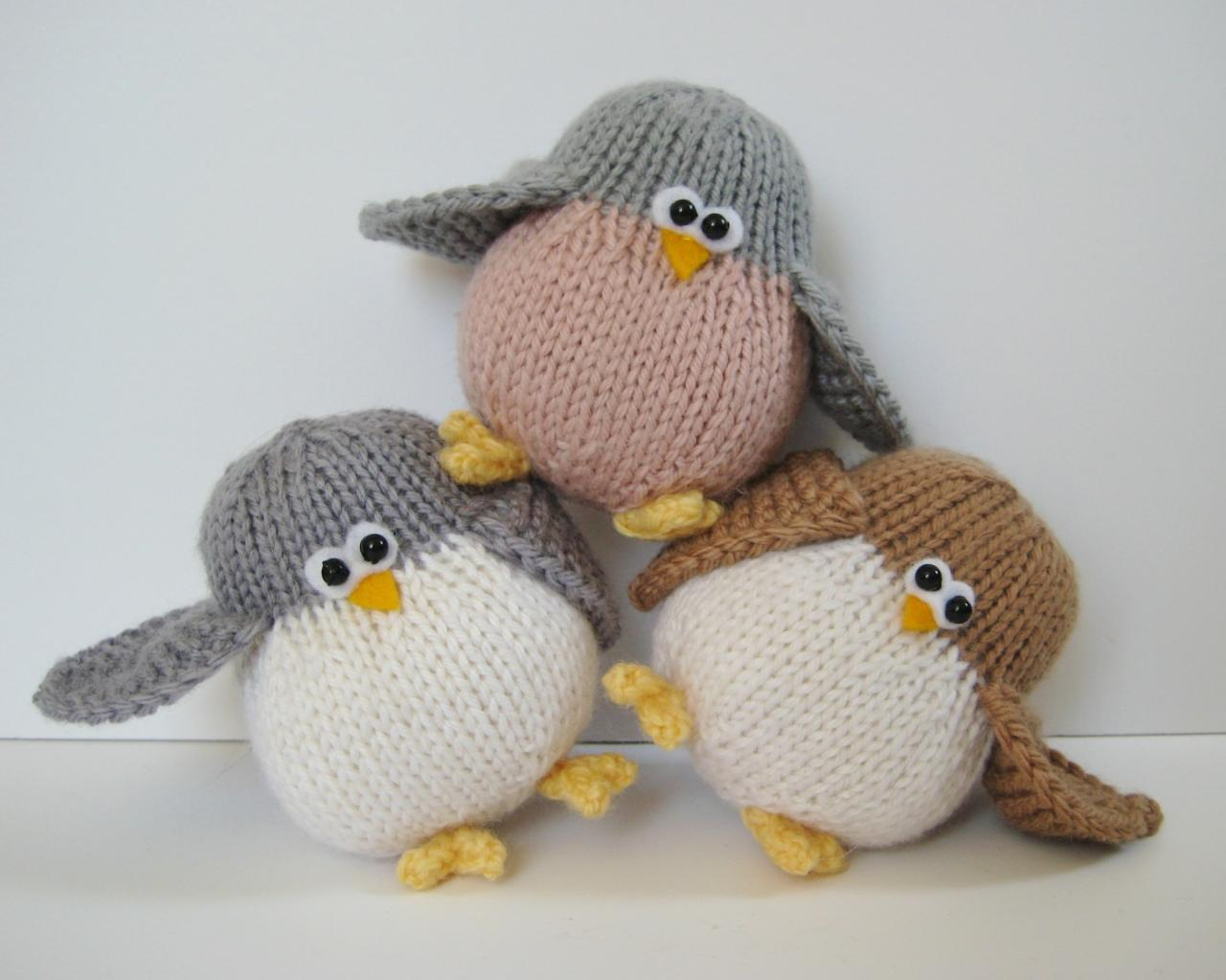 Juggle birdies toy knitting patterns