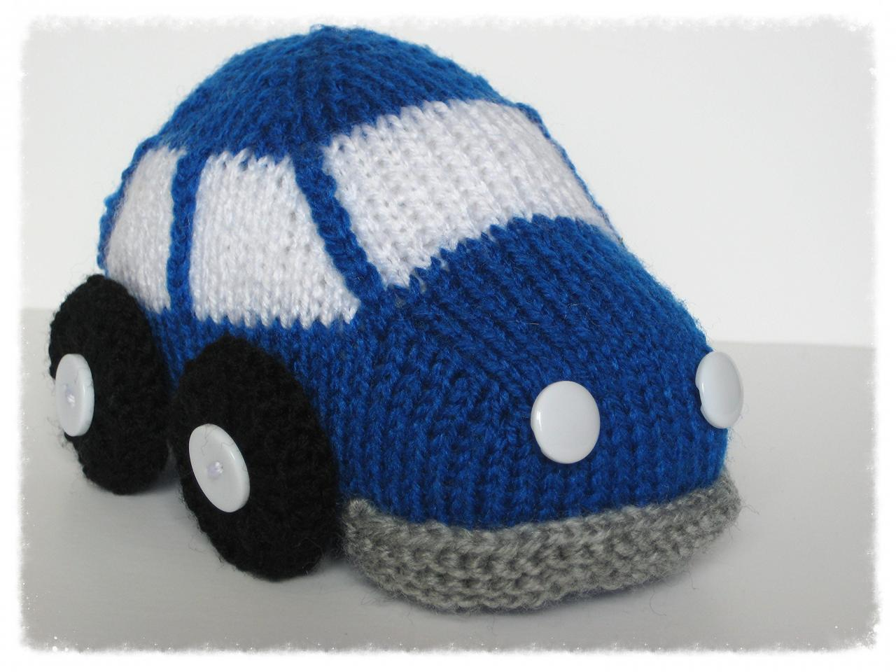 Bubble Car Toy Knitting Pattern on Luulla