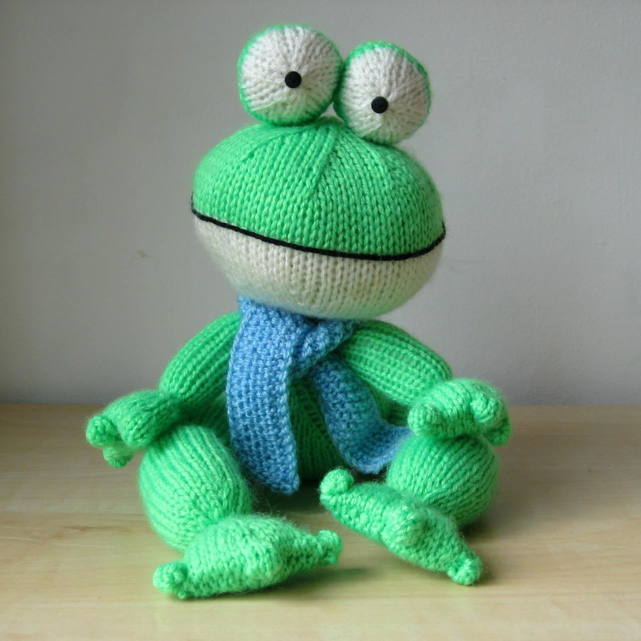 Felix The Frog Toy Knitting Patterns on Luulla