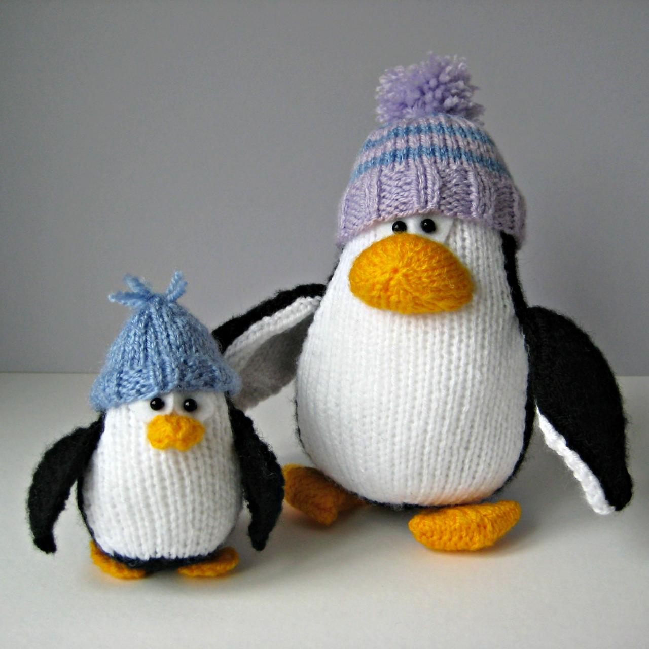 Bobble And Bubble Penguins Toy Knitting Patterns on Luulla