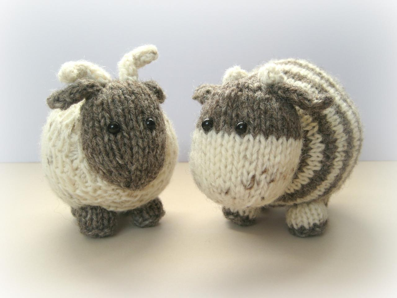 Bramble Goat And Chestnut Cow Toy Knitting Patterns on Luulla