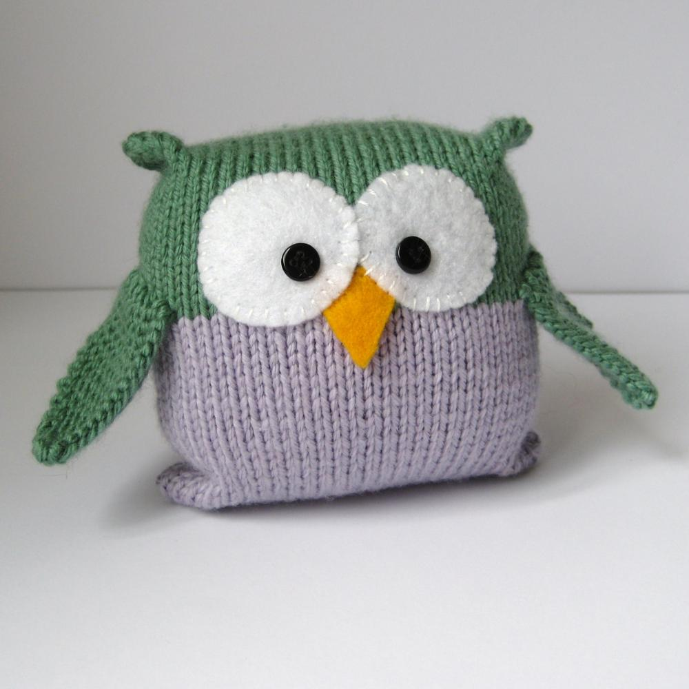 Tooley Owl Toy Knitting Pattern on Luulla