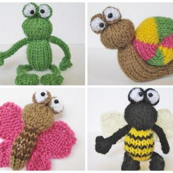 Frog And Bugs Toy Knitting Patterns On Luulla